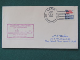 USA 1992 Cover From Ship USS Constellation In Mission In Desert Storm To Texas - Flag - United States