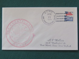 USA 1994 Cover From Ship USS Constellation In Mission In Desert Storm To Texas - Flag - United States