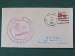 USA 1995 Cover From Ship USS Constellation In Mission In Desert Storm To Texas - Flag - United States