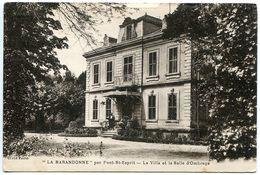 LA BARANDONNE Par PONT SAINT ESPRIT La Villa Et La Salle D'Ombrage * Voyagé 1931 - Pont-Saint-Esprit