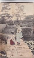 JAPAN. FEMMES EN KIMONO. TRADITIONAL FOLK DRESSED. COLORISE. CIRCULEE 1910 L'ARGENTINE. - BLEUP. - Kostums