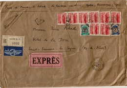 LBR26 - ALGERIE LETTRE RECOMMANDEE EXPRES 18/9/1956 - Algérie (1962-...)