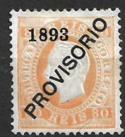 1892 – King Luiz Surcharged 80 Réis - Other
