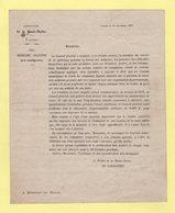 Guerre De 70 - Prefecture De La Haute Saone - Vesoul - 16 Novembre 1871 - Medecine Gratuite - Documents Historiques