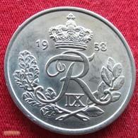 Denmark 25 Ore 1958 KM# 842.2   Dinamarca Danemark Denemarken Danimarca - Danemark