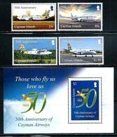 "Cayman Islands     ""Airways""      Set & Souvenir Sheet    New Issue  August-17-2018   MNH - Iles Caïmans"