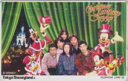 RARE Télécarte Japon / TCP 110-001 - DISNEY DISNEYLAND - CHRISTMAS FANTASY 1997 - Japan Phonecard - Disney