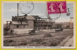 CPA 53 PRE-EN-PAIL Mayenne - CARRIERES De BEL-AIR - L'Embranchement ° A. DOLBEAU 5199 ** Ferroviaire Chemin De Fer - Pre En Pail