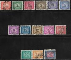Italy Scott # J65-77 Used Postage Due, 1947-54 - 1946-.. République