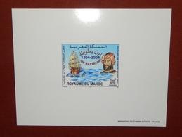 MAROKKO MOROCCO MARRUECOS  MAROC 700IEME ANNIV. D' IBN BATTUTAH EPREUVE DE LUXE ( DELUXE PROOF ) 2004 - Marruecos (1956-...)