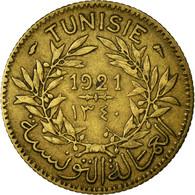 Monnaie, Tunisie, Anonymes, Franc, 1921/AH1340, Paris, TTB, Aluminum-Bronze - Tunisie