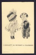 Little Girl Large Hat, Boy Bolo Hat - I Couldn't Go Without Chaperone F Spurgin - Humor