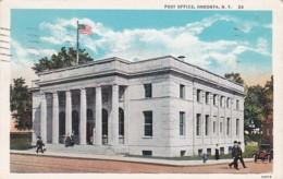 New York Oneonta Post Office 1934 Curteich - NY - New York