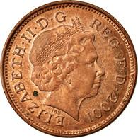 Monnaie, Grande-Bretagne, Elizabeth II, 2 Pence, 2001, TB+, Copper Plated Steel - 1971-… : Monnaies Décimales