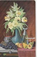 AK 0109  Stilleben ( Blumen , Obst ) / Künstlerkarte Um 1910-20 - Blumen