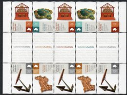 AUSTRALIA, 2015 COLLECTIONS GUTTER STRIP 10 MNH - 2010-... Elizabeth II