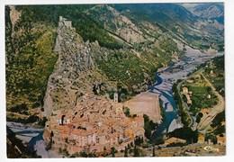 04 - ENTREVAUX - Village Médiéval Fortifié Par Vauban En 1695 Pour Défendre La Vallée Du Var. Vue Générale Aérienne (N2) - Autres Communes