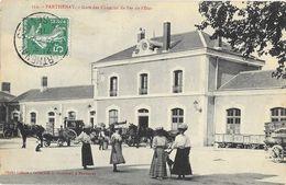 Parthenay (Deux-Sèvres) - Gare Des Chemins De Fer De L'Etat - Collection A. Bourdeau - Carte Animée N° 122 - Parthenay