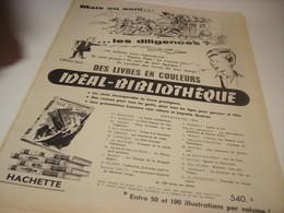 ANCIENNE PUBLICITE LIVRE COLLECTION IDEAL BIBILIOTHEQUE 1956 - Publicité