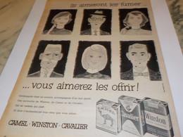 ANCIENNE PUBLICITE CIGARETTE AIMERONT LES FUMER VOUS AIMEREZ LES OFFRIR 1956 - Tabac (objets Liés)