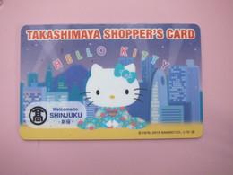 Takashimaya Shopper's Card, Hello Kitty, Shinjuku - Phonecards