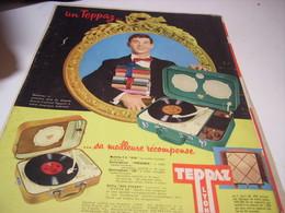ANCIENNE  PUBLICITE MEILLEURE RECOMPENSE  ELECTROPHONE  DE TEPPAZ 1958 - Music & Instruments