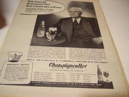 ANCIENNE PUBLICITE BIERE CHAMPIGNEULLES  AVEC PIERRE ZECCHINI DE KIWI 1958 - Alcohols