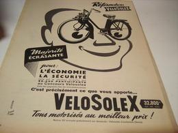 ANCIENNE PUBLICITE VELOSOLEX 1958 - Motos
