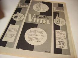 ANCIENNE PUBLICITE FIDELE A VITTEL 1955 - Affiches
