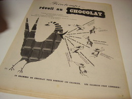 ANCIENNE PUBLICITE  PRINTEMPS REVEIL AU CHOCOLAT  1955 - Affiches