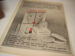 ANCIENNE PUBLICITE ROUGE A LEVRE L.T.PIVER 1955 - Perfume & Beauty