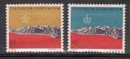 LIECHTENSTEIN     SCOTT NO.  324-25     MNH    YEAR  1958 - Liechtenstein