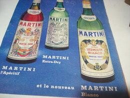 ANCIENNE PUBLICITE MARTINI APERITIF 1966 - Alcohols