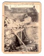 Photographie Sur Carton - Groupe De Maçons à Is-en-Bassigny (52) - Métiers