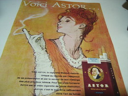ANCIENNE PUBLICITE VOICI  CIGARETTE ASTOR AMERICAN BLEND 1966 - Tabac (objets Liés)
