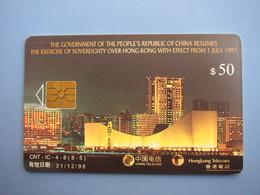 Chip Phonecard, Hongkong Return To China(8-5) Single Card From A Set Of 4, Joint Issued With China Telecom - Hong Kong