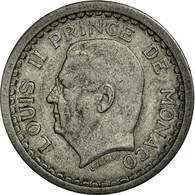 Monnaie, Monaco, Louis II, Franc, 1943, Poissy, TTB, Aluminium, KM:120 - 1922-1949 Louis II