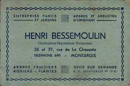HENRI BESSEMOULIN...ENTREPRISE PARC ET JARDINS A MONTARGIS.. - Advertising