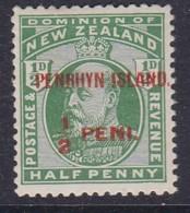 Penrhyn Island 1914 Sc 13 Mint Hinged - Penrhyn