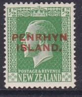 Penrhyn Island 1920 Sc 17 Mint Hinged - Penrhyn