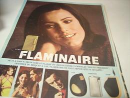 ANCIENNE PUBLICITE BRIQUET  FLAMINAIRE 1966 - Raucherutensilien (ausser Tabak)