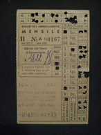 DA VEDERE ABBONAMENTO MENSILE RAILWAY CHEMIN DE FER FERROVIA PENNE PESCARA AUTO SERVIZIO SOSTITUTIVO 1963 TRENO AUTOBUS - Abonnements Hebdomadaires & Mensuels