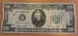 "Etats-Unis - Billet 20 (Twenty) Dollars ""Jackson"" 1950 Series - Bon état - Billets De La Federal Reserve (1928-...)"