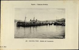 Cp Vigo Galicien Spanien, Muelle Del Commercio, Hafenpartie - Espagne