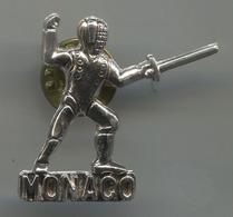 MONACO - Fencing Fechten, Swordplay, Pin, Badge, Abzeichen - Scherma