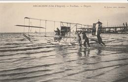 ARCACHON - AVIATION - Paulhan - Départ - Arcachon