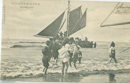Scheveningen 1904; Strandgezicht (met Aankomende Vissersboot) - Gelopen. (Trenkler Co. - Leipzig) - Scheveningen