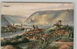 42916065 Bingen Rhein Bingerbrueck Elisenhoehe Burg Klopp Nationaldenkmal Kuenst - Bingen