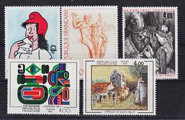 France 2263 2265,2291,2297 Tableaux 1983  Neuf ** TB MNH  Sin Charnela Faciale 3 - Arte