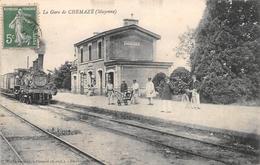 ¤¤   -   CHEMAZE    -  La Gare   -  Train , Chemin De Fer  -   ¤¤ - France